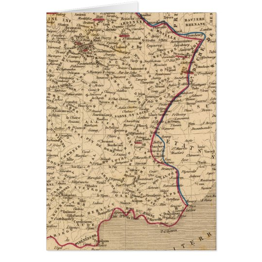 La France 1814 a 1840 Card