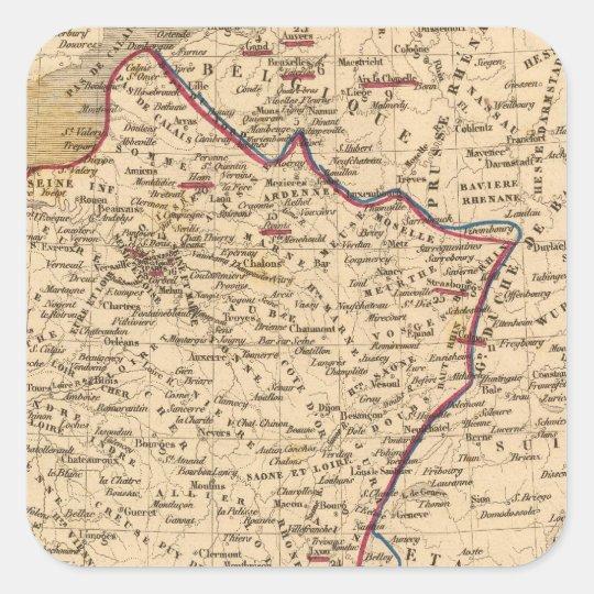 La France 1814 a 1840 Square Sticker