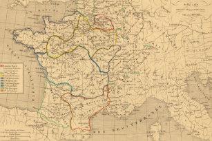 Map France 987.Map Of Paris Placemats Zazzle