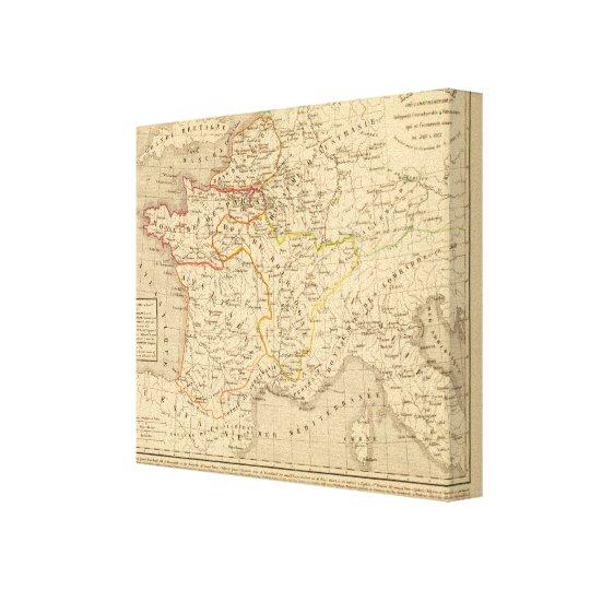 La France apres la mort de Clothaire 1er Canvas Print