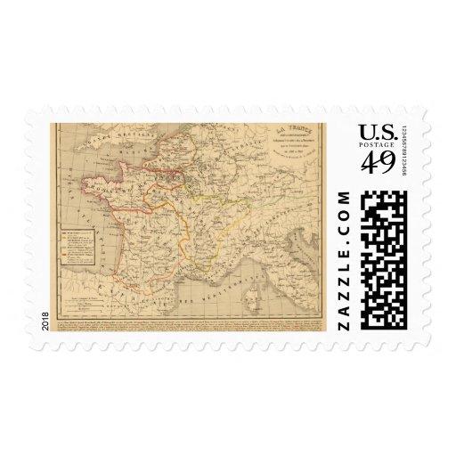 La France apres la mort de Clothaire 1er Stamp
