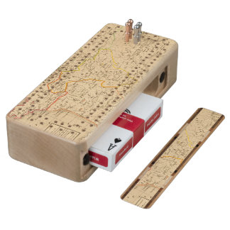 La France apres la mort de Clothaire 1er Wood Cribbage Board