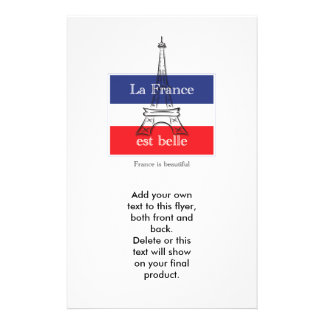 """La France est Belle 5.5"""" X 8.5"""" Flyer"""
