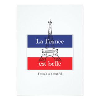 La France est Belle 5.5x7.5 Paper Invitation Card