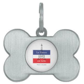 La France est Belle Pet ID Tag