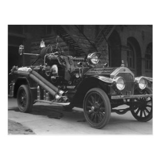 La France Fire Truck 1924 Postcard