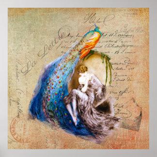 La francés Lettre del ~ de Nouveau del arte Póster