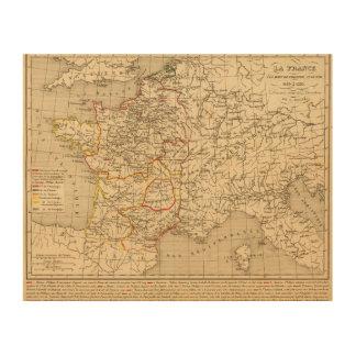 La Francia 1180 un 1223 Impresiones En Madera