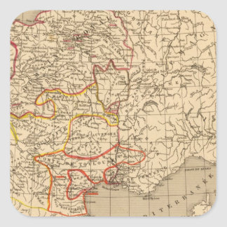 La Francia 1223 un 1270 Pegatina Cuadradas Personalizadas