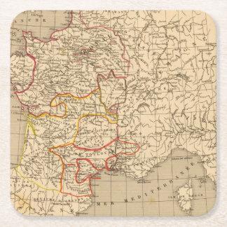 La Francia 1223 un 1270 Posavasos Desechable Cuadrado