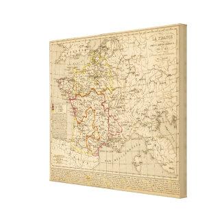 La Francia 1380 un 1422 Lona Envuelta Para Galerías