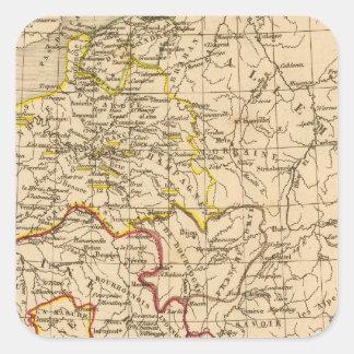 La Francia 1380 un 1422 Calcomanía Cuadrada Personalizada