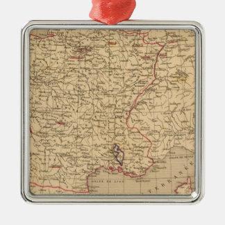 La Francia 1715 un 1774 Adorno Navideño Cuadrado De Metal