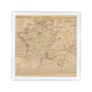 La Francia 1715 un 1774 Bandeja Cuadrada