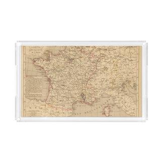 La Francia 1715 un 1774 Bandeja Rectangular