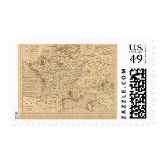 La Francia 1715 un 1774 Estampilla