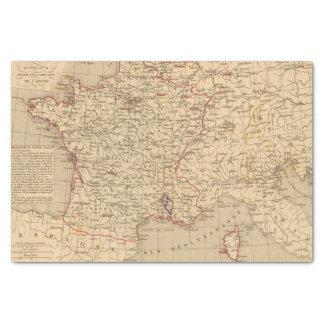 La Francia 1715 un 1774 Papel De Seda Pequeño