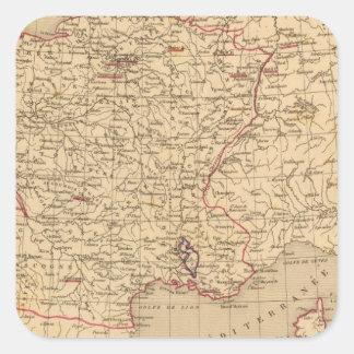 La Francia 1715 un 1774 Pegatina Cuadrada