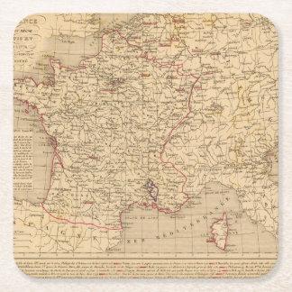 La Francia 1715 un 1774 Posavasos Personalizable Cuadrado