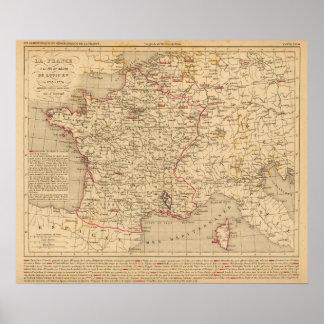 La Francia 1715 un 1774 Póster