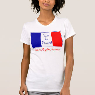 La Francia - Liberté, Égalité, Fraternité de Vive T-shirts