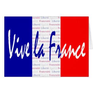La Francia - Liberté, Égalité, Fraternité de Vive Tarjeta De Felicitación