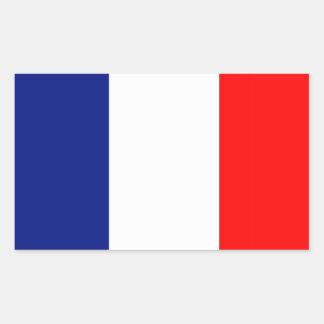 LA FRANCIA STRIPE20 DE VIVE PEGATINA RECTANGULAR