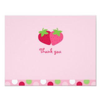 """La fresa dulce le agradece las tarjetas de nota invitación 4.25"""" x 5.5"""""""