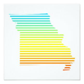 """la frialdad de Missouri se descolora Invitación 5.25"""" X 5.25"""""""
