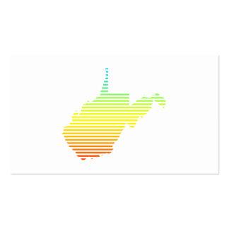 la frialdad de Virginia Occidental se descolora Tarjetas De Visita