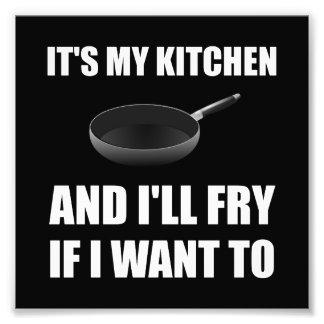 La fritada de la cocina quiere a fotografías