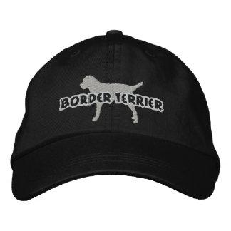 La frontera Terrier de la silueta bordó el gorra Gorra De Béisbol Bordada