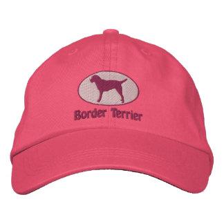 La frontera Terrier oval bordó el gorra (el rosa) Gorra Bordada