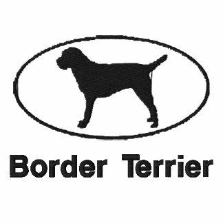 La frontera Terrier oval bordó la camisa (la camis