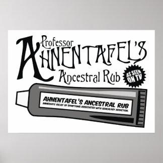 La frotación ancestral de Ahnentafel Posters