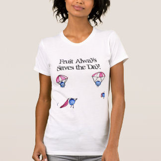 la fruta ahorra el día camisetas