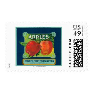 La fruta Apple del hilandero etiqueta - Yakima, WA Sello