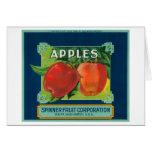 La fruta Apple del hilandero etiqueta - Yakima, WA Felicitacion