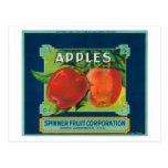 La fruta Apple del hilandero etiqueta - Yakima, WA Postal