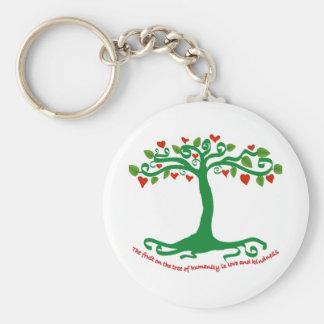 La fruta de la humanidad es amor y amabilidad llavero redondo tipo pin