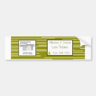 La fruta de la pera del verde de la etiqueta de la pegatina de parachoque