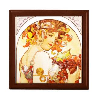 La fruta de Mucha - caja del recuerdo/de regalo Cajas De Recuerdo