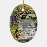 La fruta del alcohol adorno navideño ovalado de cerámica