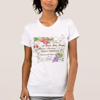 La fruta del alcohol es amor, alegría, camiseta de