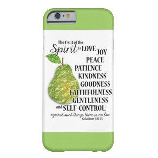 La fruta del alcohol - PERA - caso del iPhone 6 Funda De iPhone 6 Barely There