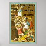 La fruta del ~ de Thurbers preserva y gelatina el  Impresiones