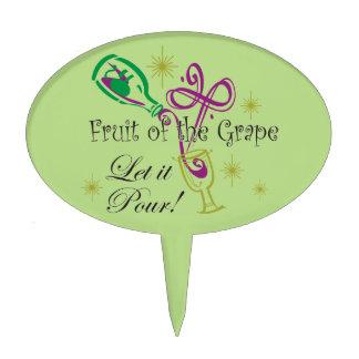 ¡La fruta del vino rojo de la uva, lo dejó vierte! Decoración Para Tarta