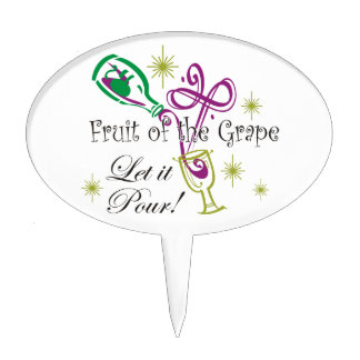 ¡La fruta del vino rojo de la uva, lo dejó vierte! Decoraciones Para Tartas
