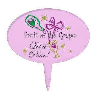 ¡La fruta del vino rojo de la uva, lo dejó vierte! Figura De Tarta