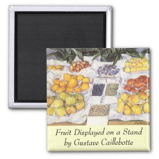 La fruta hace una pausa a Gustave Caillebotte, Imán Cuadrado